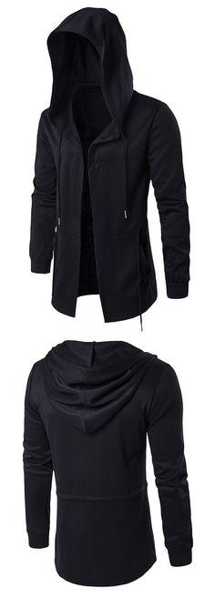 Open Front Cloak Hooded Full Sleeves Hoodie