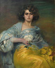 Ramón Casas (Catalan Spanish, 1866-1932), Julia Peraire, 1908. Oil on canvas, 81 x 65.5 cm.