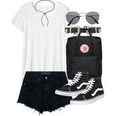 Outfit for summer with shorts and Vans by ferned on Polyvore featuring moda, Toast, Alexander Wang, Vans, Fjällräven, Lanvin and B-Low the Belt