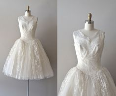 lace 50s wedding dress / vintage 1950s wedding dress / Angel Air dress
