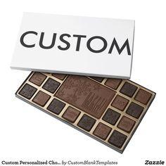 Custom Personalized Chocolate Box Blank Template