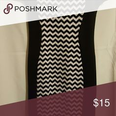 Body Dress Color Block Black and White with example of fit Dresses Midi
