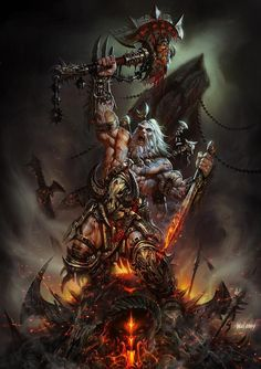 The Amazing, Official Art of Diablo III Did you spill my pint? The Amazing, Official Art of Diablo III Fantasy Demon, High Fantasy, Fantasy Warrior, Dark Fantasy Art, Fantasy Artwork, Fantasy World, Fantasy Character Design, Character Design Inspiration, Character Art