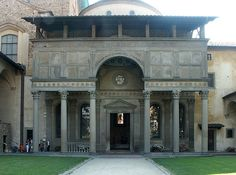 Pazzi Chapel in Florence, Italy A perfect elevation