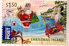 International Post Stamp - The #Scuba Santa of Christmas Island