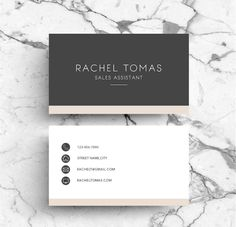 Business Card / PSD Template by Emily's ART Boutique on Creative Market