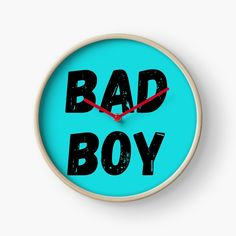 'Being Bad' Clock by DeonsDesigns Modern Prints, Art Prints, Quartz Clock Mechanism, Hand Coloring, Bad Boys, Printed, Awesome, Products, Art Impressions