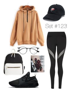 """Let Loose and Dance"" by emma-natalie ❤ liked on Polyvore featuring Poverty Flats, Ray-Ban, NIKE and Michi"