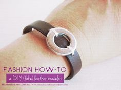 DIY Leather and washer bracelet