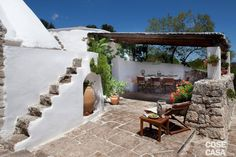 Mediterranean homes – Mediterranean Home Decor Spanish Garden, Italian Garden, Spanish House, Mediterranean Architecture, Unique Architecture, Mediterranean Homes, Outdoor Spaces, Outdoor Living, Outdoor Decor
