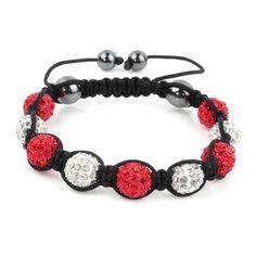 Shamballa Bracelet Red Disco Ball Friendship Bead Unisex Bracelets Swarovski Crystal Beads zzDs1fsjBH