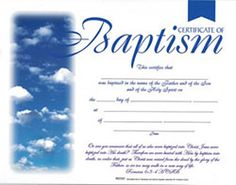 Charming Title: Certificates Of Baptism   Acts 2:38 Data Pin Dou003d