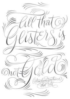 Friday's Typographic Treats lol... Glisters??
