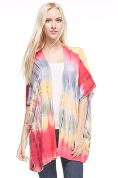 Tie Dye Cardigan $36    Comment below with PayPal to purchase and ship or comment with size for 24 hour hold  #repurposeboutique#hipandtrendy#shoprepurpose#boutiquelove#summer#summerready#tiedye#cardigan