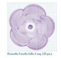 #Cevi il libro delle piastrelle | ceramica |pannello corolla lilla