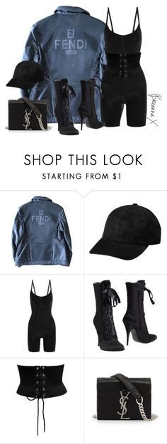 """""""Untitled #3218"""" by breannamules ❤ liked on Polyvore featuring Fendi, SPANX, Giuseppe Zanotti and Yves Saint Laurent"""