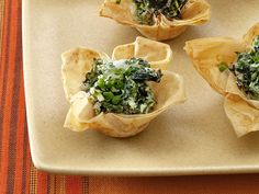 Spinach and Goat Cheese Tartlets from FoodNetwork.com