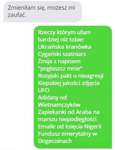 26 mistrzowskich rozmów facebookowych i smsowych – Demotywatory.pl Wtf Funny, Funny Memes, Jokes, Polish Memes, Everything And Nothing, Funny Messages, Insta Story, Best Memes, Haha