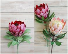 one of my favorite flowers to imitate /Paper Protea . one of my favorite flowers to imitate / Paper protea… one of my favorite flower to recreate! Big Paper Flowers, How To Make Paper Flowers, Tissue Paper Flowers, Paper Flower Wall, Diy Flowers, Paper Flower Backdrop Wedding, Paper Flower Centerpieces, Paper Flower Arrangements, Wedding Paper