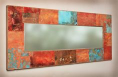 47x20 Metal and Copper Mirror by paulrungstudio on Etsy, $375.00