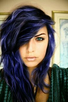 Beautiful blue hair color