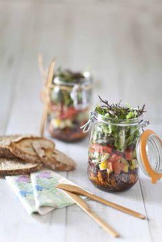 Le Parfait  Jar Salade: a mason jar salad made in France! Bocal Le Parfait, salade