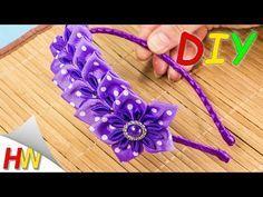 FLORES DE LENTOBODOK kanzashi, MC. Kanzashi flores tutorial. - YouTube