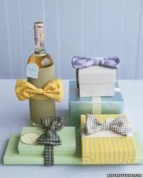 Wrapping Ideas for groomsmen! Wouldn't that be cute if they all wore different colored bow ties!