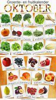 Natuurlijk Gezond en Mooi: Groente- en fruitkalender oktober Growing Vegetables, Fruits And Vegetables, Veggies, Food Facts, Fresh Herbs, Diy Food, Healthy Living, Clean Eating, Going Dutch