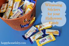 printable stickers for halloween candy - an invitation to wednesday night activities would be better