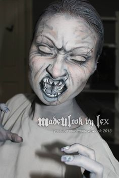 For my sister. Weeping angel makeup tutorial. http://www.youtube.com/watch?v=xHLRcSap9mo&feature=youtu.be