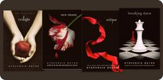 Twilight series by Stephenie Meyer.  Say what you want about the story, but the covers are gorgeous.