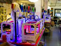 Everywhere you look, you see Replicators in various stages of construction and testing