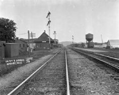 1929 Train Depot and Yards at Bagley WI by Sherwin Gillett via http://www.wisconsinhistory.org/whi/fullRecord.asp?id=81954&qstring=http%3A%2F%2Fwww%2Ewisconsinhistory%2Eorg%2Fwhi%2Fresults%2Easp%3Fsearch%5Ftype%3Dbasic%26keyword1%3Dbagley%26Submit%3DSearch | Bagley WI | #WIGreatRiverRd | WISCONSIN Great River Road