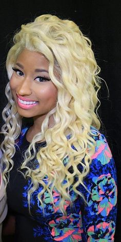 Shop our online store for blonde hair wigs for women.Blonde Wigs Lace Frontal Hair Human Lace Front Wigs Near Me From Our Wigs Shops,Buy The Wig Now With Big Discount. Nicki Minaj Outfits, Nicki Minaj Barbie, Frontal Hairstyles, Permed Hairstyles, Blonde Wig, Blonde Ombre, Nicki Minaj Starships, Human Lace Front Wigs, Dreadlock Wig