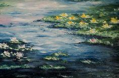 Salvatore Bua Olio su tela Tecnica: Spatola 100x70 Copia Monet Anno 2012
