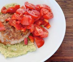 15-Minute Chicken Dinner Recipes: Chicken Burgers with Avocado and Red Salsa #SelfMagazine
