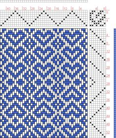 Hand Weaving Draft: Hearts, Judie Eatough, 8S, 8T - Handweaving.net Hand Weaving and Draft Archive - point draw