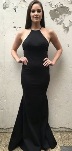 Simple Mermaid Halter Backless Black Cheap Long Prom Dresses - April 14 2019 at Next Dresses, Prom Dresses 2018, Backless Prom Dresses, Designer Prom Dresses, Mermaid Prom Dresses, Cheap Prom Dresses, Stylish Dresses, Evening Dresses, Ladies Dresses