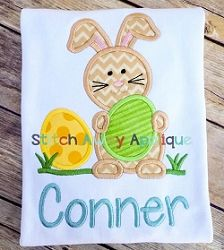 Easter Bunny Egg Applique - 4 Sizes! | What's New | Machine Embroidery Designs | SWAKembroidery.com Stitch Away Applique