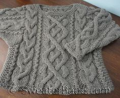 #165 Ultimate Chunky Cabled Sweater