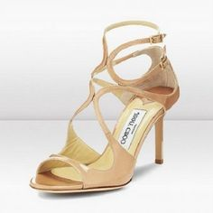 dbc6e98d3717 JIMMY CHOO NUDE PATENT LEATHER SANDAL  159 Leather Sandals