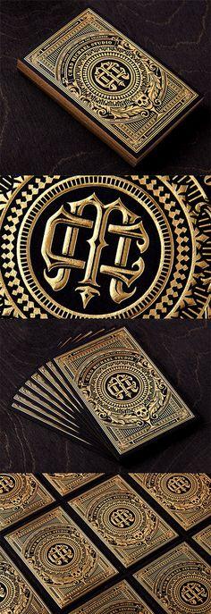 gold hot foil business card