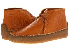 wallabee shoes for men | Clarks Wallabee Ridge in Orange for Men (Tan Tumbled Leather)