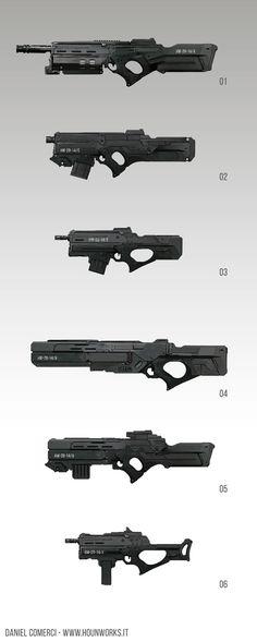 ArtStation - Weapon Props Concepts, Daniel Comerci