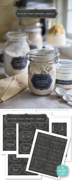 Free printable Gluten-free pantry Labels