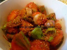 Stuffed vegetables (Bheralu Shak ) in the microwave