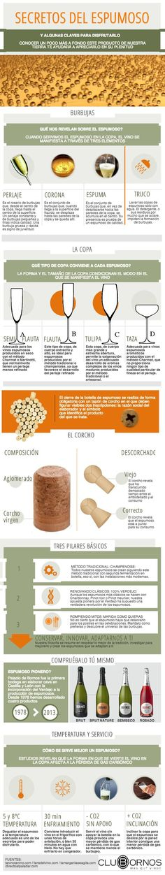 secretos del espumoso | @Piktochart Infographic | https://lomejordelaweb.es/