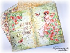 [60-Second Tutorial Video] Imagine Art Journal By Aleksandra Mihelič Graphic 45 - Imagine, Fairie Dust, Time to Celebrate, Voyage Beneath the Sea