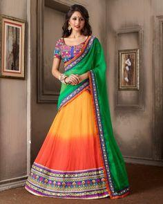 8e26fe035b548d Buy beautiful lehenga choli designs latest style of shaded color combination